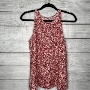 Old Navy Red Leopard Print Top